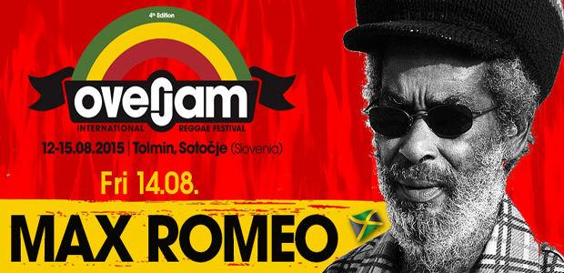OVERJAM 2015: MAX ROMEO il nuovo artista annunciato