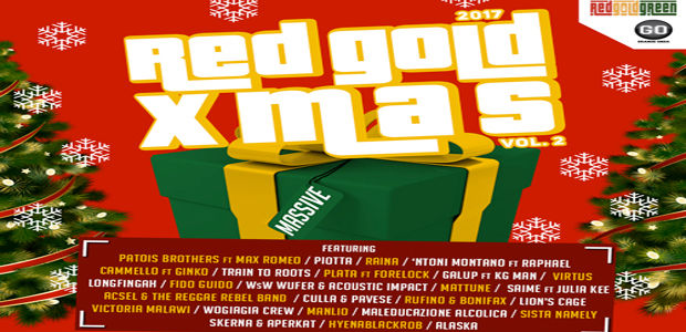 "FUORI ""RED GOLD XMAS vol.2"" feat Patois Brothers ft Max Romeo, Piotta, Raina, Galup ft Kg Man, VirtuS, Plata ft Forelock e molti altri"