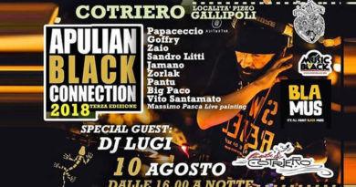 Apulian Black Connection: il 10 agosto si svolgerà la terza edizione con DJ LUGI