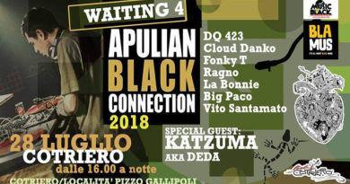 APULIAN BLACK CONNECTION feat. Katzuma aka DEDA, prima tappa il 28 luglio al Cotriero